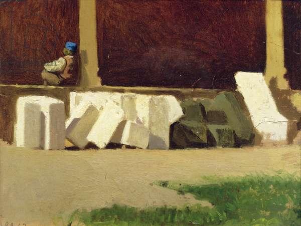 The Cloister (oil on canvas)