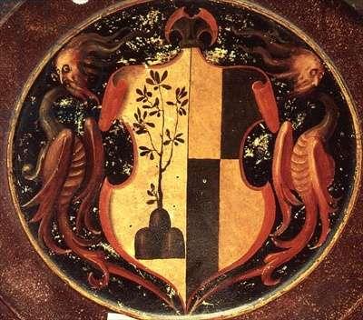 Heraldic Shield, c.1529 (oil on panel) (reverse of 50329)