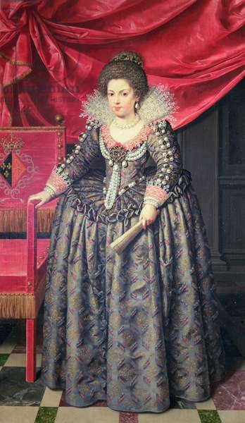 Portrait of Elizabeth of France (1602-44) daughter of Henri IV and Marie de' Medici, 1611 (oil on canvas)