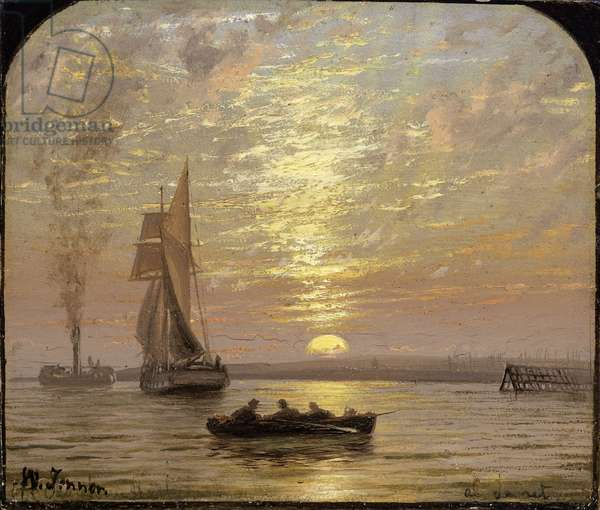At Sunset, c.1875 (oil on board)