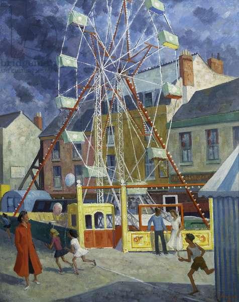 The Big Wheel, 1956 (oil on canvas board)