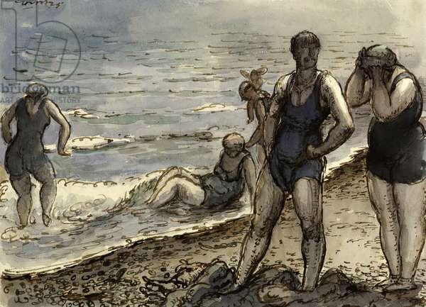 Bathers, c.1920 (w/c on paper)