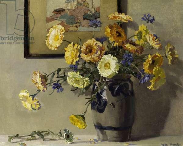 Marigolds, c.1920 (oil on canvas)