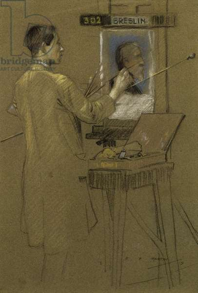 Glasgow School of Art Student, 1920 (pastel on paper)