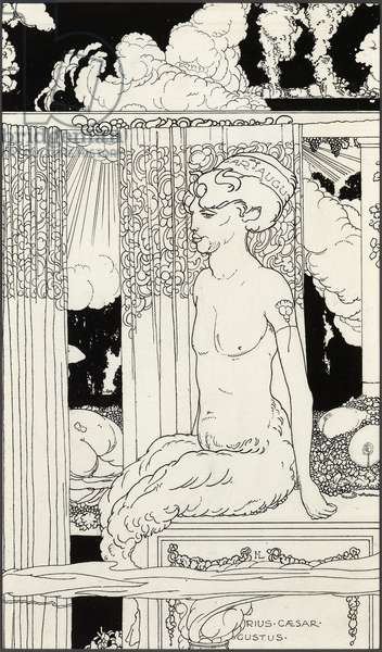The Faun of the Gold Tiberius, c.1910 (pen & ink on paper)