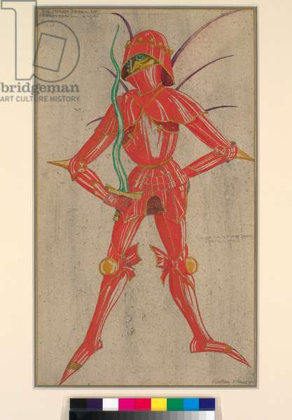 Coreb - a Spirit, Design for a Stage Dress for The Merry Devil of Edmonton, 1921 (w/c on paper)