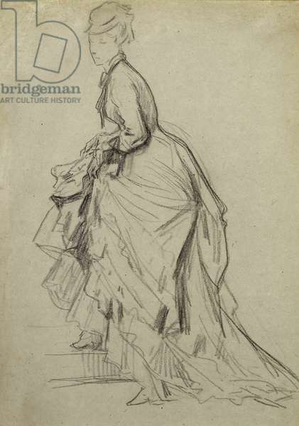 Showing an Ankle, c.1880 (chalk on paper)