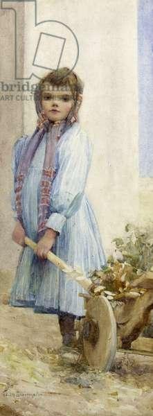 An Italian Peasant Girl, c.1900 (w/c on paper)