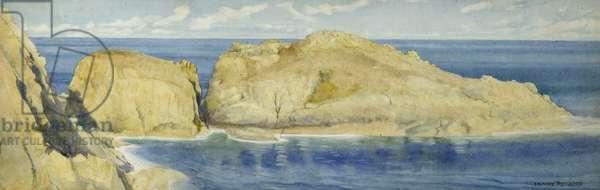 Moie de la Breniere Rocks, Sark, c.1900 (w/c on paper)