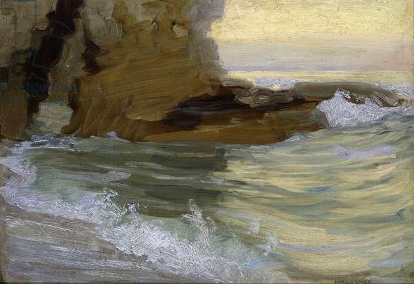 Waves, c.1920 (oil on panel)