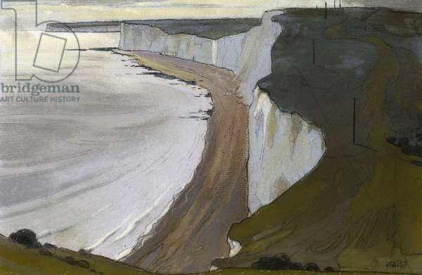 The Seven Sisters, East Sussex, c.1930 (w/c on paper)