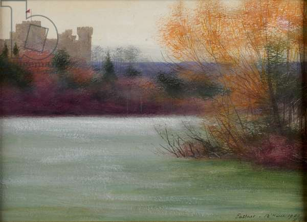 Eastnor Castle, 1900 (w/c)