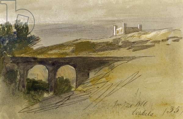 Verdala, Malta, 1866 (w/c on paper)