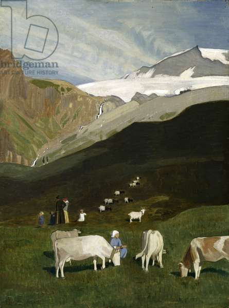 The Kaltwasser Glacier, 1923 (oil on canvas)