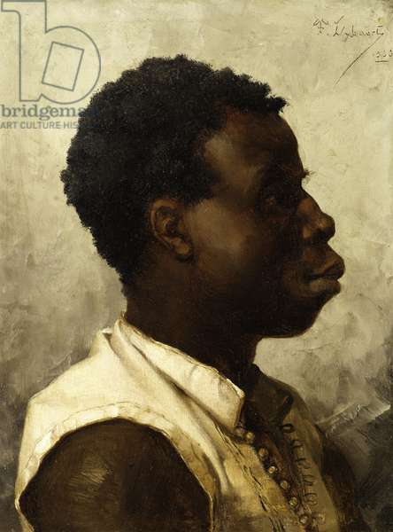 Portrait of a Young African, 1883 (oil on panel)