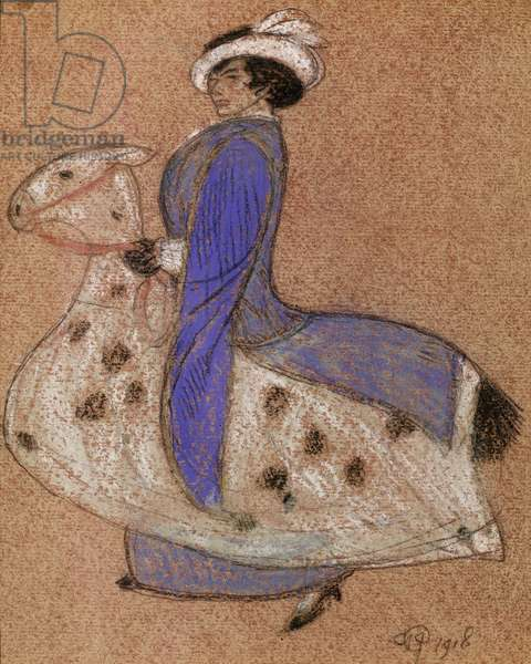 The Pantomime Horse, 1918 (chalk on paper)