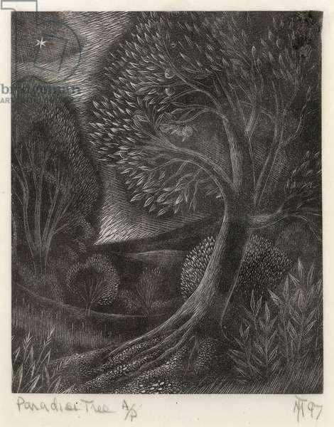Paradise Tree, 1997 (wood engraving)