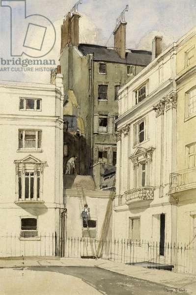 Corner of Victoria Square, London, c.1950 (w/c on paper)