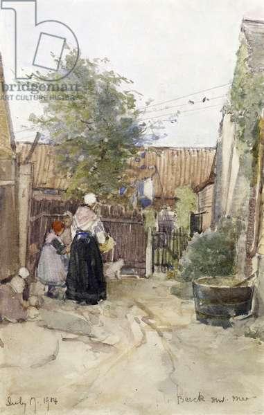 A Back Garden, Berck sur Mer, 1904 (w/c on paper)