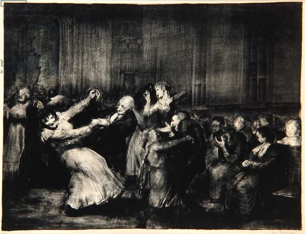 Dance in a Madhouse, 1917 (litho)