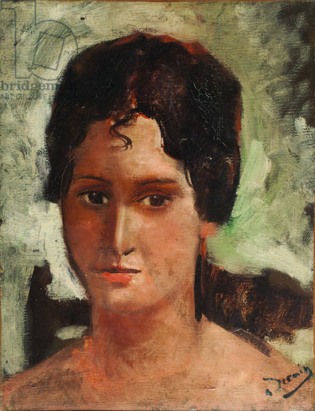 Head of a Girl, c.1928 (oil on canvas)