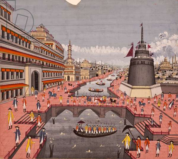 The Ghat at Jaunpur, c.1780 (opaque w/c on paper)