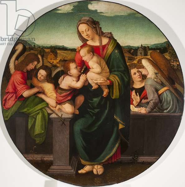 Madonna and Child with the Infant Saint John the Baptist and Angels, c.1515 (oil on panel)