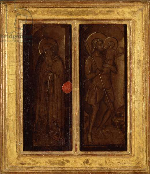 Rear of Saints James, Anthony Abbot, Francis, and Ansanus, c.1385-90 (tempera on panel)
