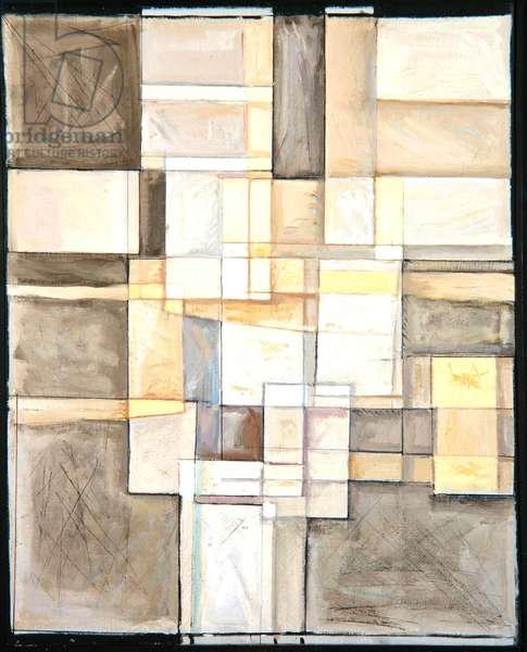 Geometric, c.1962 (oil on canvas)