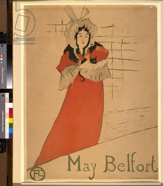 May Belfort, 1895 (colour litho)