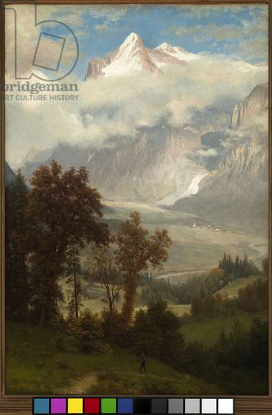 View of the Wetterhorn from the Valley of Grindelwald (oil on canvas)