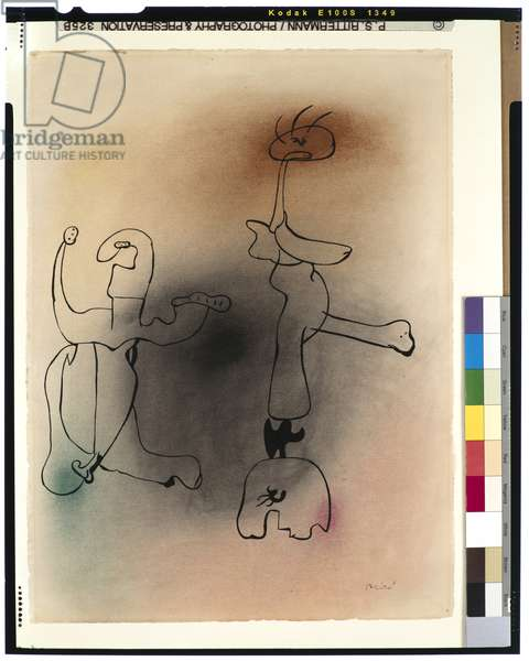 Untitled, March 31, 1934 (ink & pastel on paper)