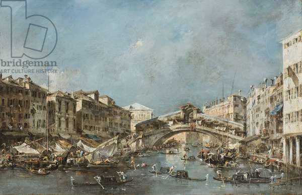 The Rialto Bridge, c.1775 (oil on canvas)