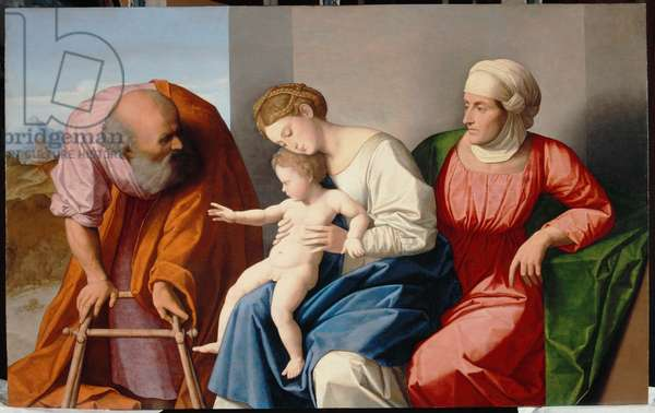 Holy Family with Saint Anne, c.1520 (oil on panel)