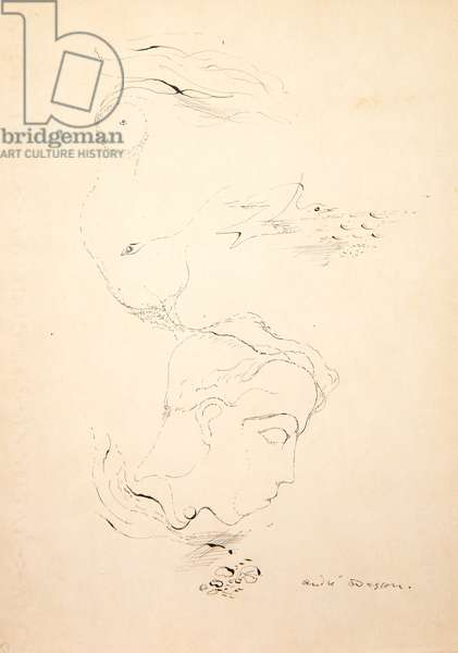 Automatic Portrait of Robert Desnos, c.1925 (ink on paper)