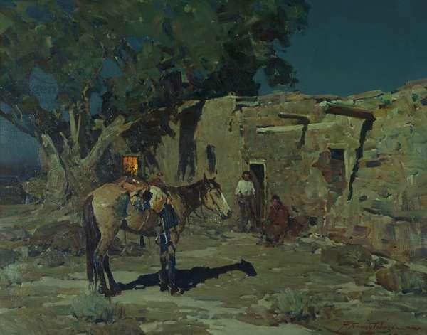In Old Isleta, 1935 (oil on canvas)
