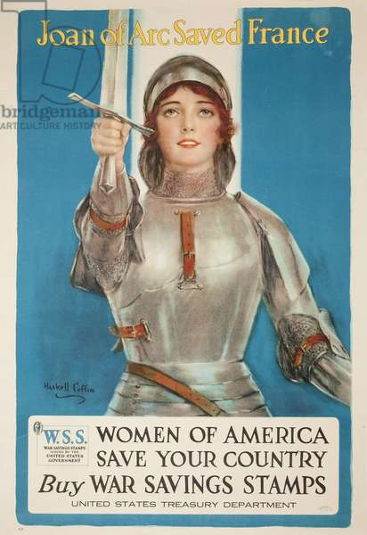 Joan of Arc Saved France, Women of America Save Your Country, c.1918 (colour litho)