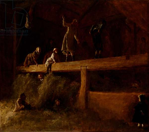 In the Hayloft, c.1878 (oil on canvas)