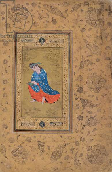 A princess in blue and orange, c.1575 (opaque w/c on paper)