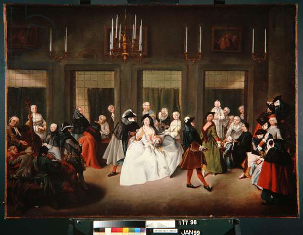 The Convent Parlour, c.1760 (oil on canvas)
