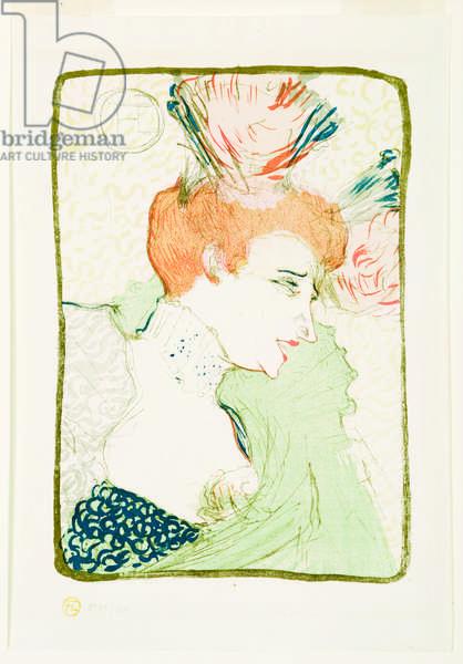 Bust of Miss Marcelle Lender, 1895 (colour litho)