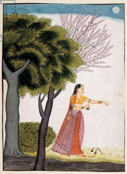 Vipralabdha nayika, c.1770 (opaque w/c & gold on paper)