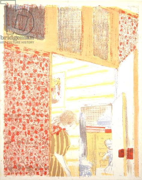 Interior with Pink Wallpaper III, 1899 (colour litho)