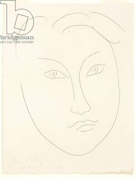 Face of a Young Boy, 1945 (etching, proof on paper)