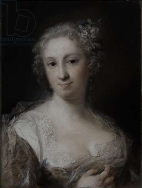 Portrait of a Lady, c.1730-40 (pastel on paper, laid down on canvas)