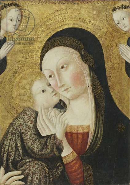 Madonna and Child with Angels, 1430-45 (tempera on panel)