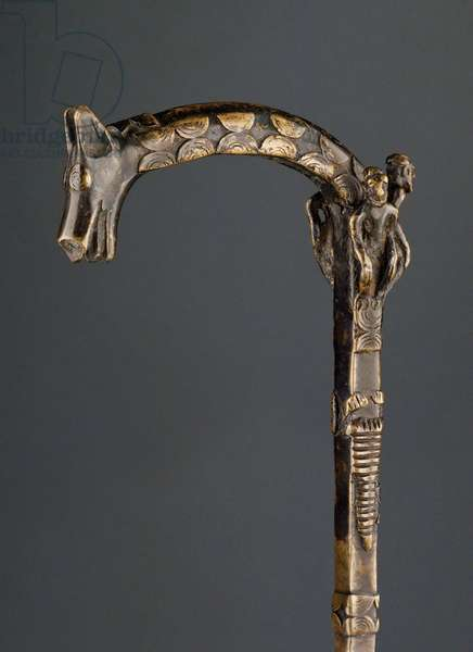 Cane, Akan Culture (bronze) (detail of 316418)
