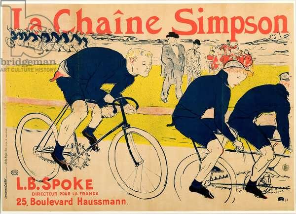 The Simpson Chain, 1896 (colour litho)