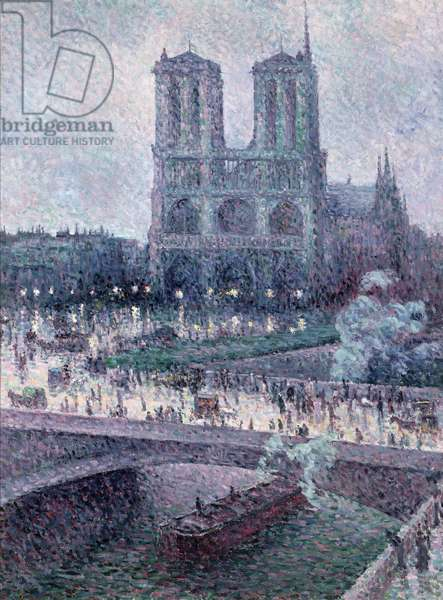 Notre Dame, c.1900 (oil on canvas)