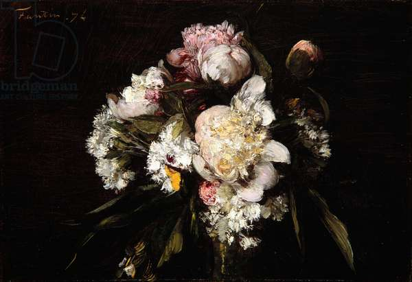 Peonies, White Carnations and Roses, 1874 (oil on canvas)